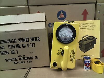 Victoreen Cdv-717 Model 1 Radiation Detector With Original Packaging 25807