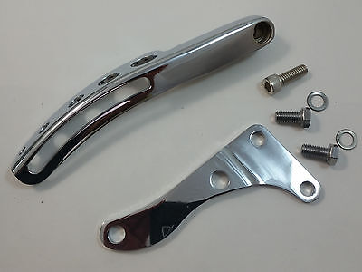 SB Chevy SBC Chrome Steel Long Water Pump Alternator Bracket Kit  W/ Bolts 69-75