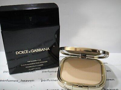 Illuminating Powder Brush - Dolce & Gabbana The Illuminator Glow Illuminating Powder Eva 3 +Brush New In Box