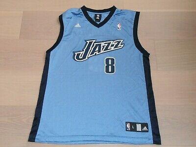 UTAH JAZZ #8 WILLIAMS NBA BLUE BASKETBALL JERSEY ADIDAS MEN L