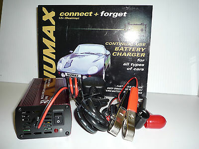 Numax 12V 4A DC Fully Automatic Intelligent Battery Charger Car Van Boat Leisure