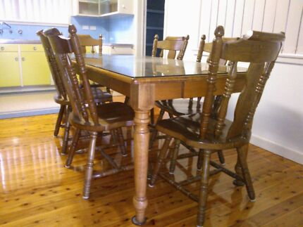 6 Seat Teak Dining Table Leppington Camden Area Preview