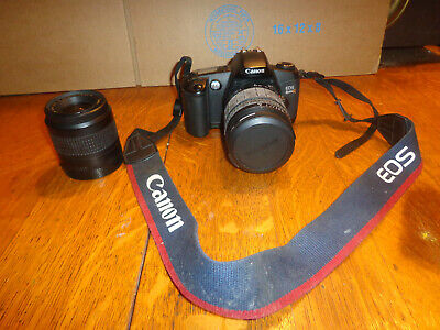 Canon Rebel EOS G Camera with 35-80mm & Quantaray 28-90mm zoom Lens and  Strap
