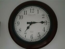 Sterling & Noble 11 Wall Clock MFG. No. 9 Oak Trim Design NICE