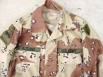 Desert Storm Chocolate Chip Camo 8th Infantry Div 3rd Armored Small reg BDU Used