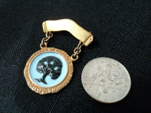 Vintage National Congress Parents & Teachers 1897 Lapel Pin 10k Gold NSF
