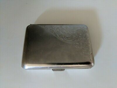 Pocket Stainless Steel Metal Business Card Holder Case Id Cc Holder Silver