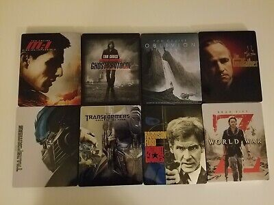 Blu ray Steelbook Collection of 8 Movies