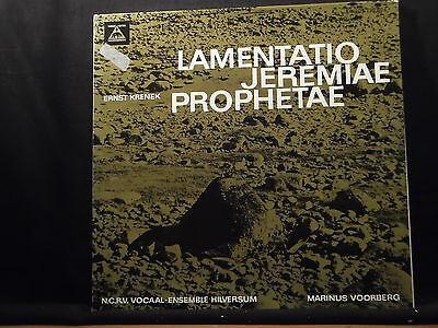 Ernst Krenek - Lamentatio Jeremiae Prophetae / Voorberg    2 LPs