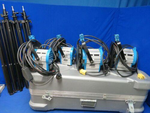 Arri Light Kit w/ 2-650 Plus, 2-300 Plus Lights, Case, Stands