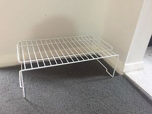 2x small white stackable shoe racks Willoughby Willoughby Area Preview