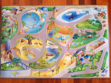 Felt world map toys indoor gumtree australia caboolture area soft felt like kids zoo theme play mat gumiabroncs Images