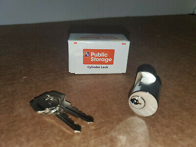 Public Storage Unit Cylinder Lock With 2 Keys