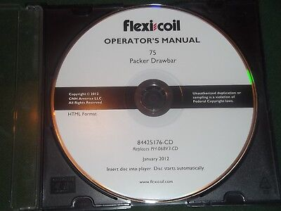 Flexi Coil 75 Packer Drawback Operators Operation Maintenance Book Cd