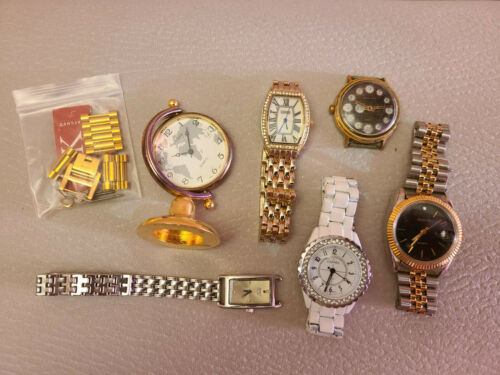 Vintage Mens Womens 6 Watch Lot Mix and Watch Link.