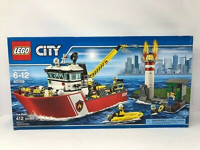 LEGO City Fire Boat 60109 New, Sealed, DAMAGED BOX, FREE Priority Shipping
