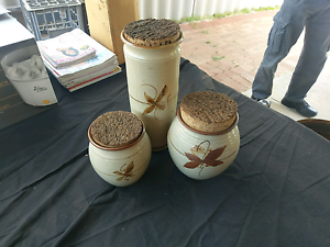 3x handmade jars with cork lids Middle Swan Swan Area Preview