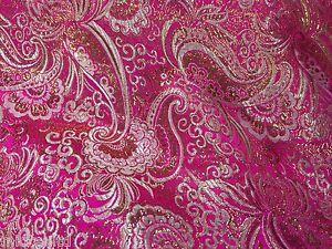 Paisley Metallic Brocade Fabric 58