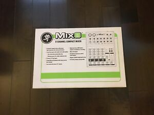Mackie Mic 8 channel compact mixer -Brand New!