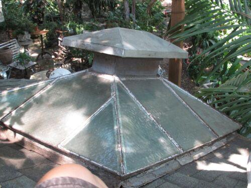 Antique Skylight Iron Frame Glass Panels