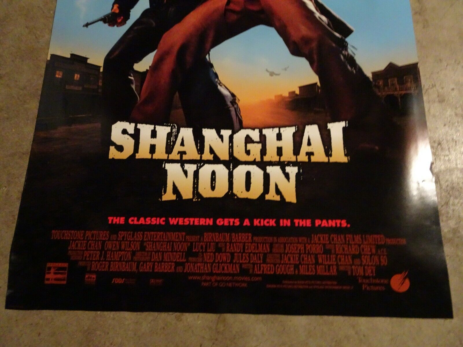 SHANGHAI NOON - MOVIE POSTER WITH JACKIE CHAN AND OWEN WILSON  - $1.99