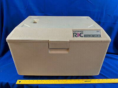 Riso Risograph Drum Case Black Green Handle Rc 61408362 Vtg C Ra Color Used