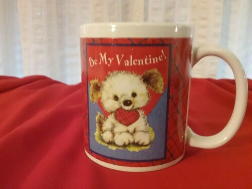 Hallmark Valentines Day Mug BE MY VALENTINE With Cute Puppy & Heart