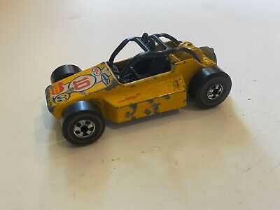 Vintage Hot Wheels Redline 1976 Rock Buster Yellow Hong Kong