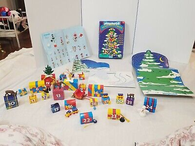 Playmobil Advent Calendar 3850 Vintage Christmas Toys Santa Reindeer All Boxes