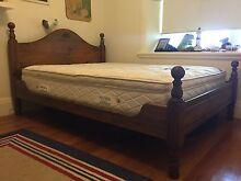 Queen wooden bed plus free mattress (optional) Ashfield Ashfield Area Preview