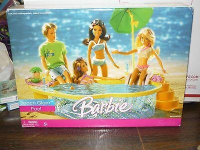 2006 Mattel BARBIE Beach Glam Pool & Accessories TOY, NEW IN BOX