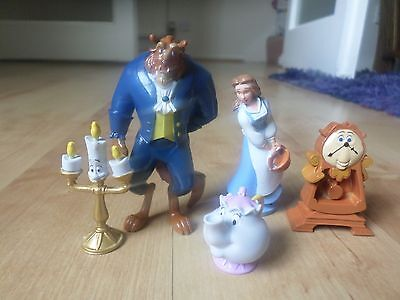 5  Figures Disney Beauty and The Beast   figurine toy cake toppers
