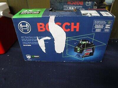 New Bosch 200 360-degree Self Leveling Green Laser Level Kit Gll3-300g