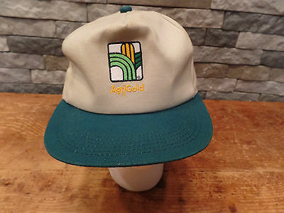 Agrigold Feed Seed Trucker Hat Cap Snapback Two Tone Green Tan Super Nice! ()