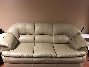 Taupe sofa and love-seat mint condition