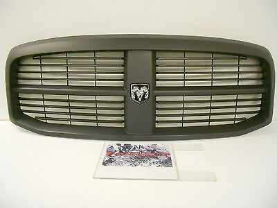 Factory OEM Genuine Dodge Ram Black Paintable Complete Grille with Emblem *NEW*