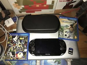 PlayStation Vita with 3 games and Case (Persona 4)