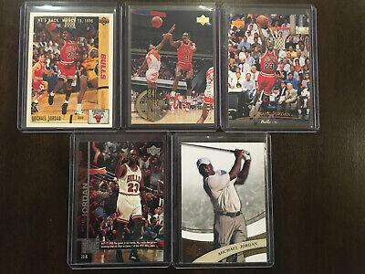 Michael Jordan 1990's Upper Deck Lot (5) Chicago Bulls SP Golf He's Back Sharp🔥