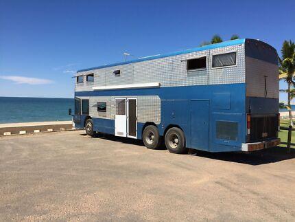 Double decker bus motorhome