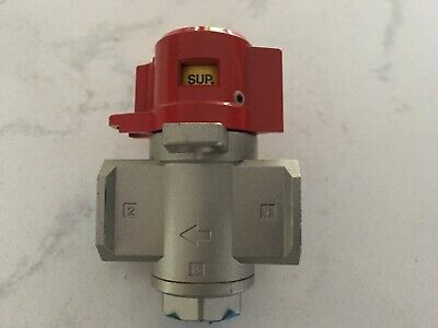 Kwikprint - Smc Vh830-n03-z Pneumatic Lock Out Shut Off Air Valve