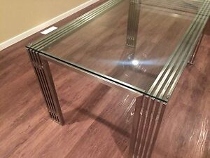 Modern Metal and Glass Dining Table Edmonton Edmonton Area image 3