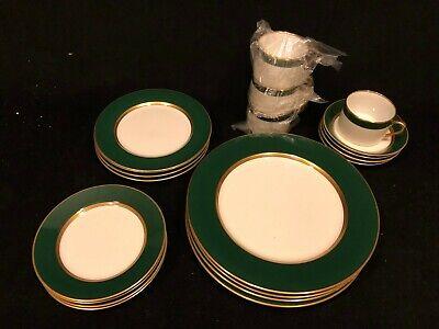 20 pieces Fitz and Floyd Renaissance Dark Green 4 Place Settings Fitz And Floyd Renaissance