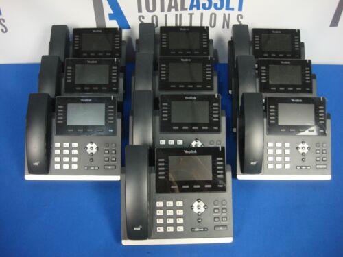 LOT OF 10 YEALINK SIP-T46S T46S GIGABIT IP BUSINESS OFFICE DESKTOP PHONE RESET