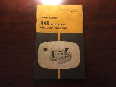 John Deere 440 Industrial Crawler Tractor Operators Manual Serial No. 448001-up