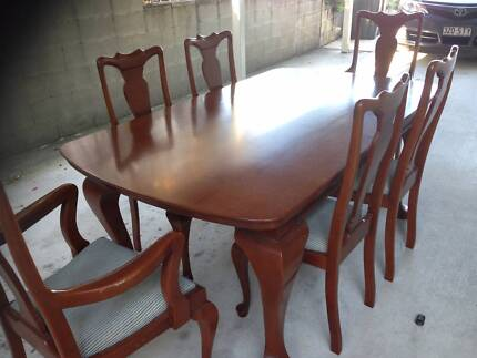 REDUCED - Silky Oak dinning table and chairs + Sideboard Tarragindi Brisbane South West Preview