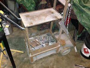 Mig welder, welding cart