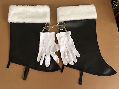 Spats, Gaiters, Puttees – Vintage Shoes Covers Santa Accessories, Boot Spats, Gloves, Glasses $15.00 AT vintagedancer.com