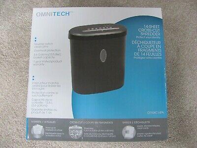 Brand New Omnitech 14-sheet Cross-cut Shredder Ot-nxc14pa