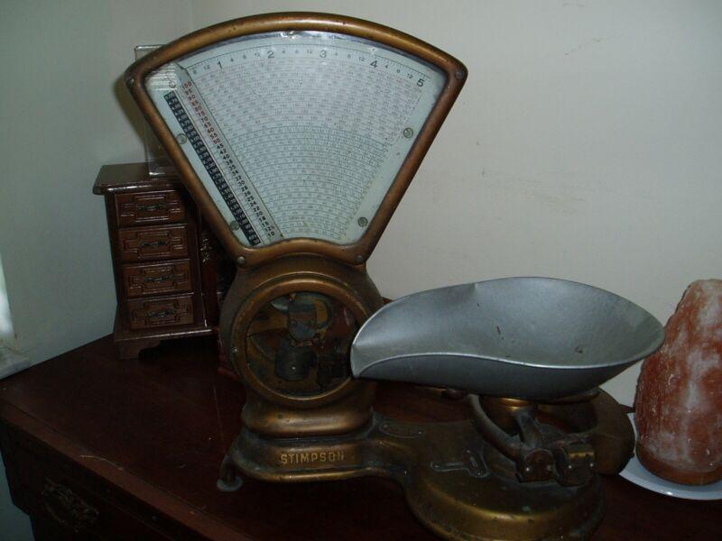 Stimpson Scale Vintage Brass 1907-1909 Original
