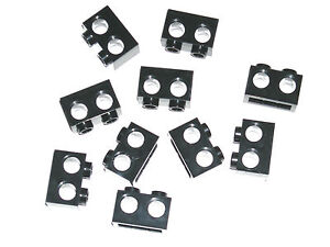 LEGO-10-Black-Technic-Bricks-1x2-with-Holes-70702